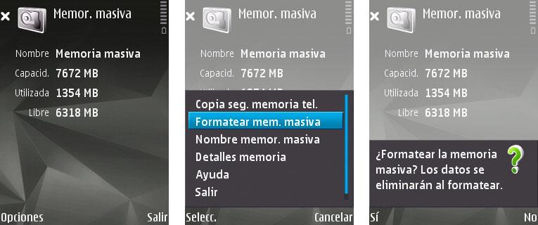 formatea memoria