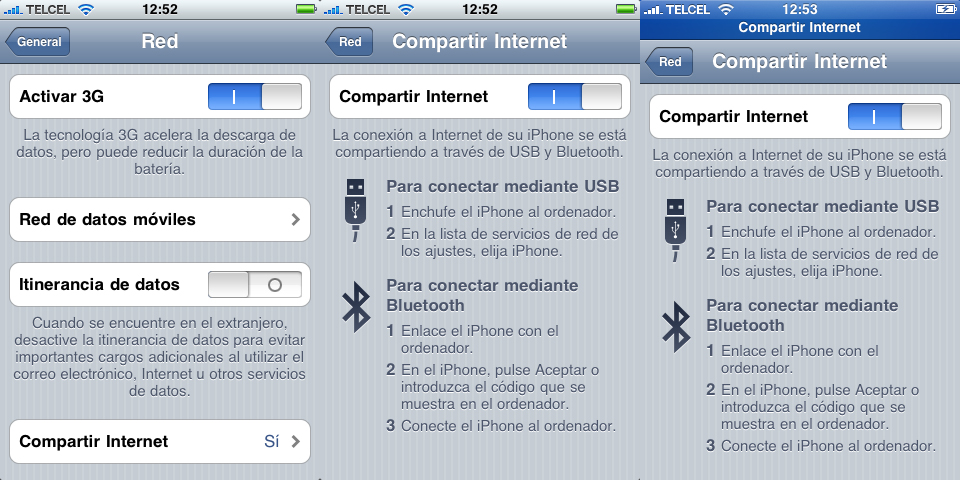 Comparte 3G iPhone