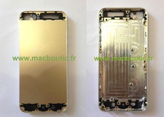 Supuesta carcasa dorada del iphone 5s